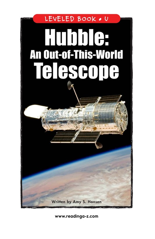 Book Preview For Hubble: An Out-of-This-World Telescope Page 1