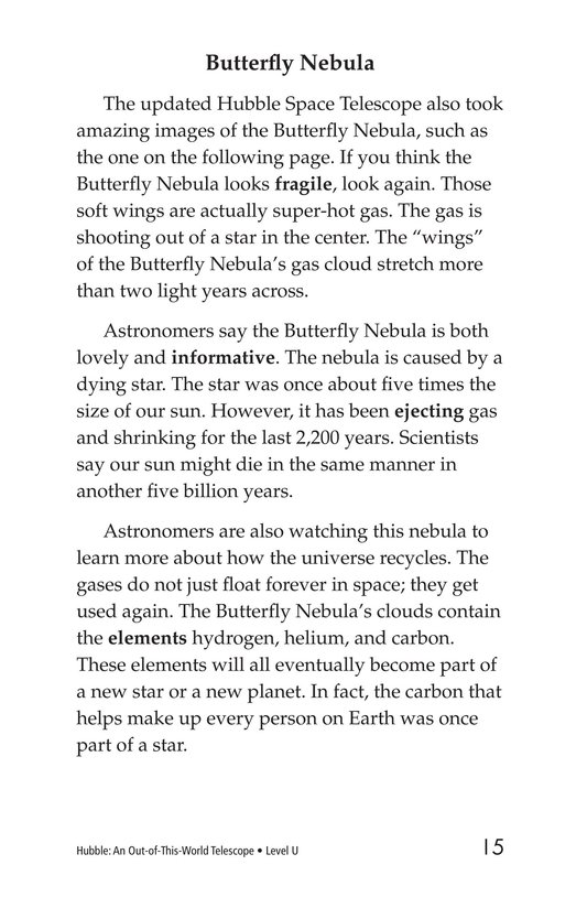 Book Preview For Hubble: An Out-of-This-World Telescope Page 15