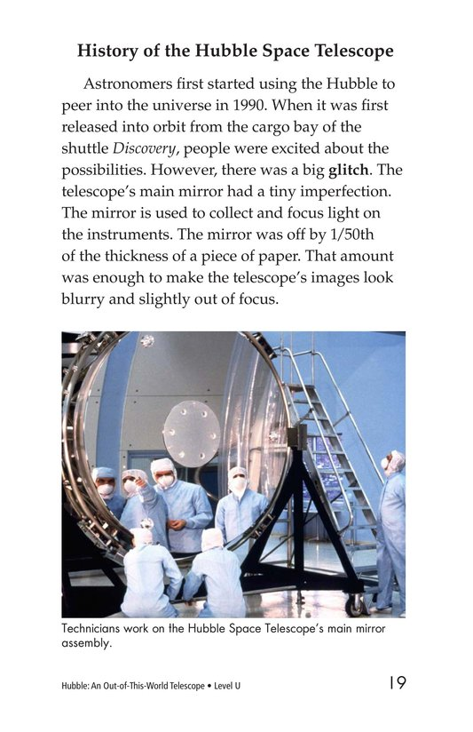 Book Preview For Hubble: An Out-of-This-World Telescope Page 19