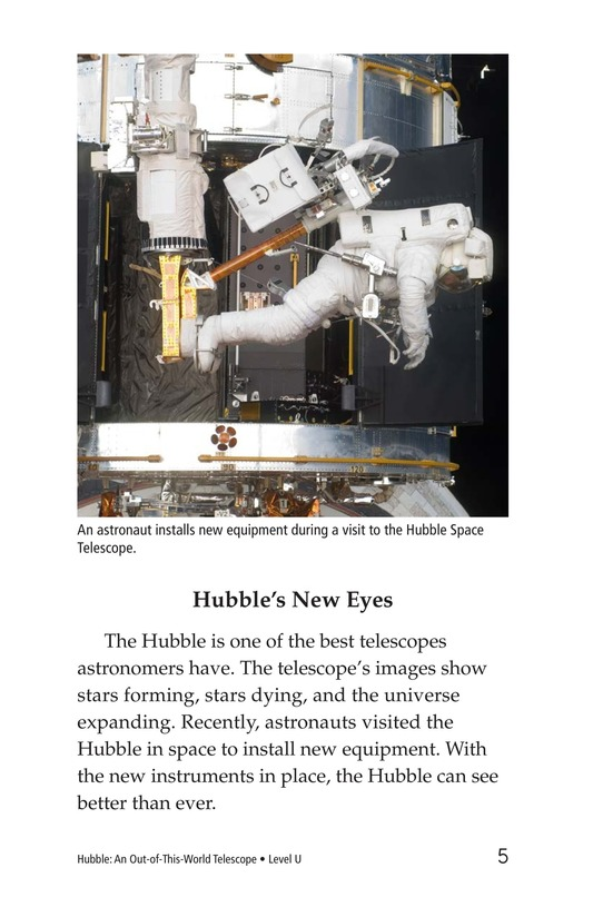 Book Preview For Hubble: An Out-of-This-World Telescope Page 5