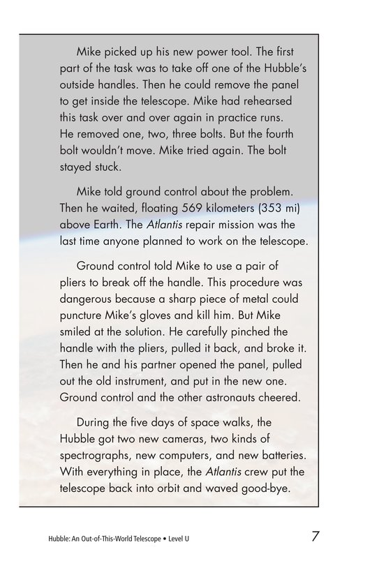 Book Preview For Hubble: An Out-of-This-World Telescope Page 7