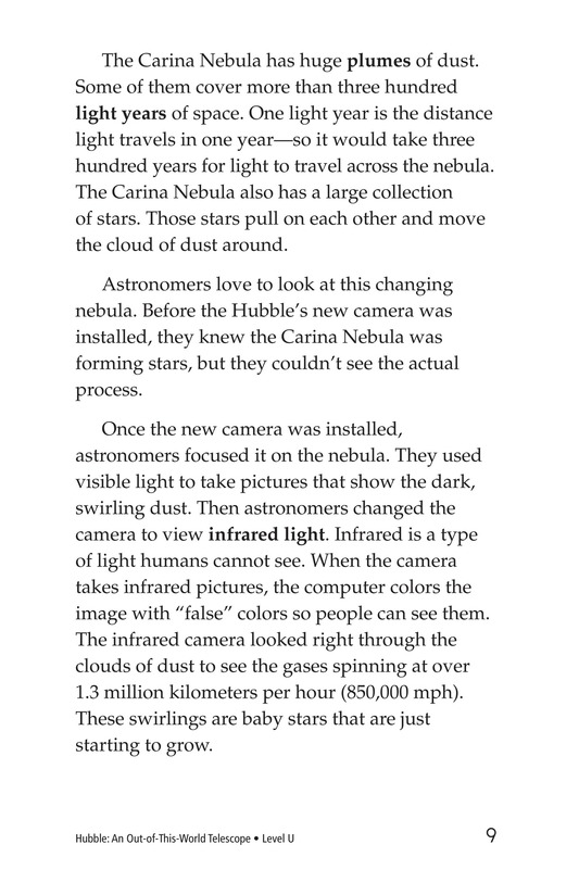 Book Preview For Hubble: An Out-of-This-World Telescope Page 9