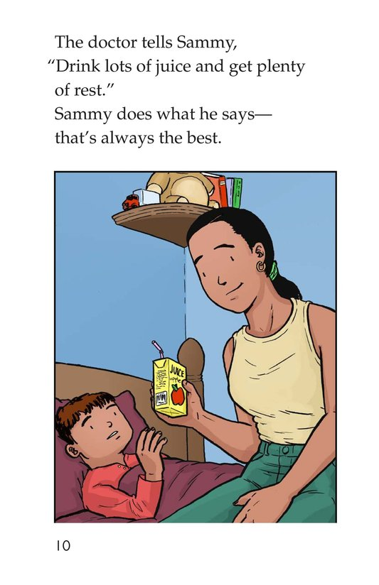 Book Preview For Sammy Has the Flu Page 10
