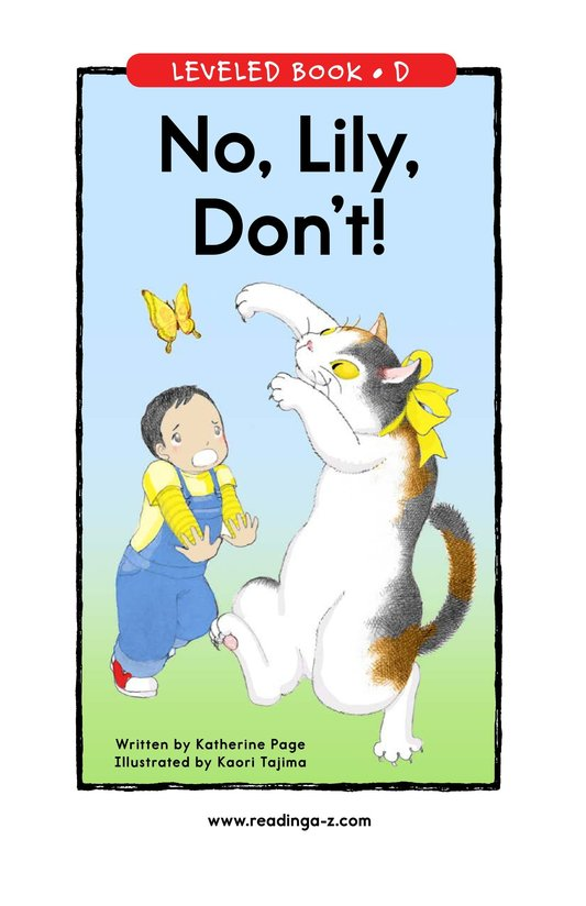 Book Preview For No, Lily, Don't! Page 1