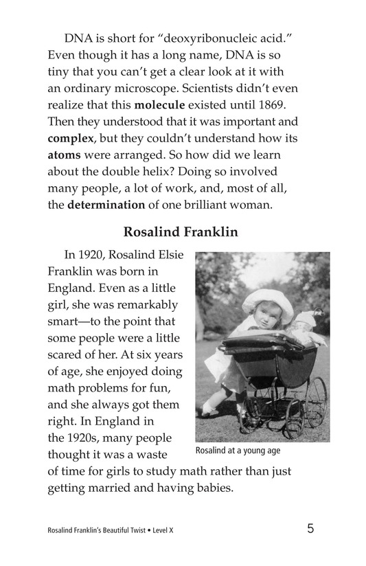 Book Preview For Rosalind Franklin's Beautiful Twist Page 5