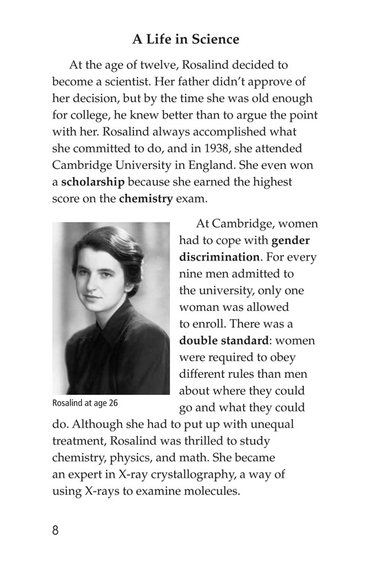 Book Preview For Rosalind Franklin's Beautiful Twist Page 8