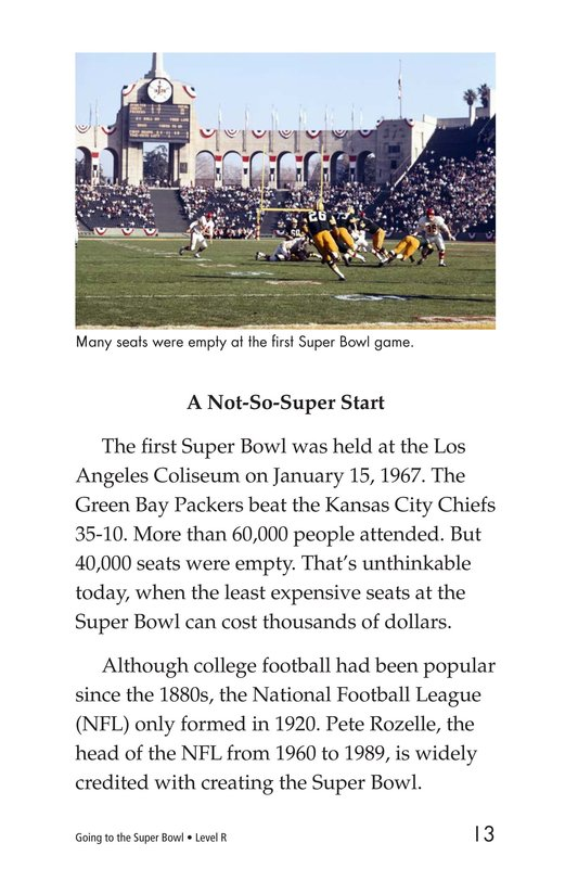 Book Preview For Going to the Super Bowl Page 13