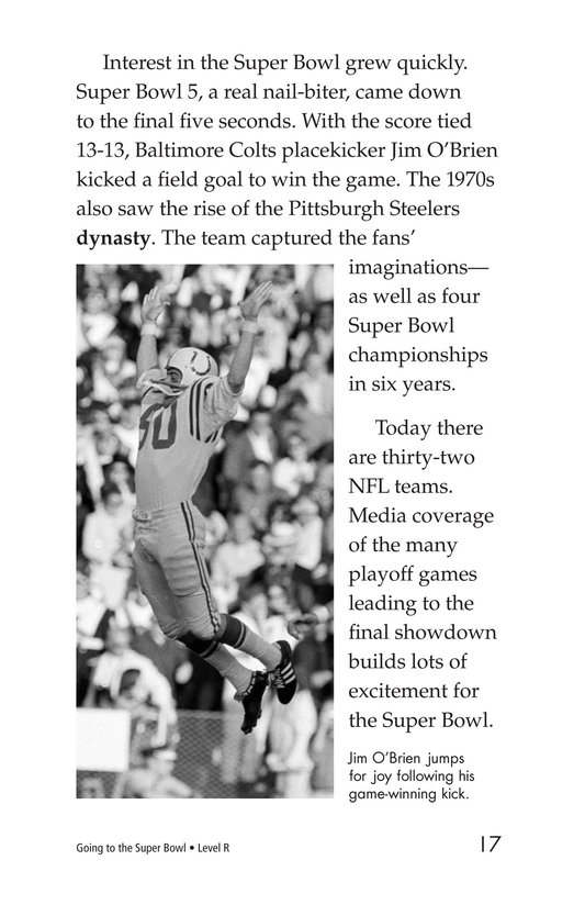Book Preview For Going to the Super Bowl Page 17