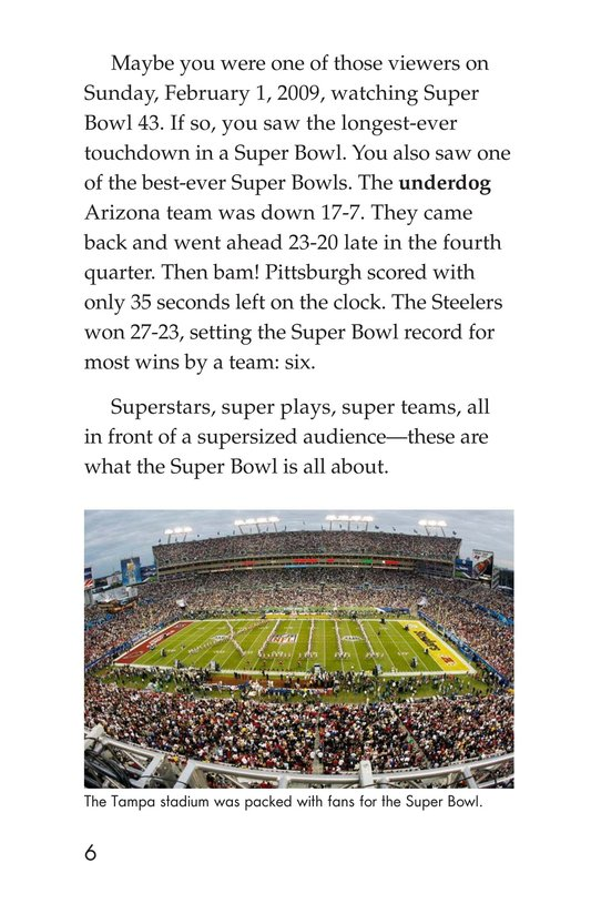 Book Preview For Going to the Super Bowl Page 6
