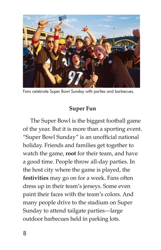Book Preview For Going to the Super Bowl Page 8