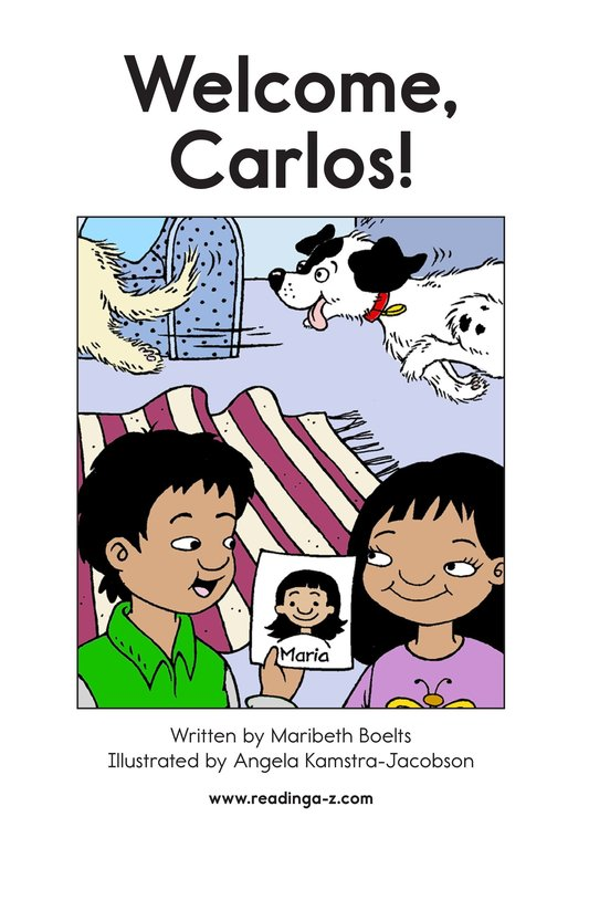Book Preview For Welcome, Carlos! Page 2