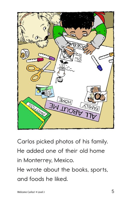 Book Preview For Welcome, Carlos! Page 5