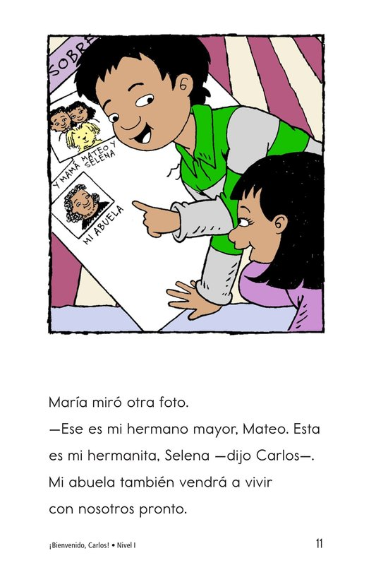 Book Preview For Welcome, Carlos! Page 11