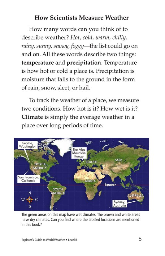 Book Preview For Explorer's Guide to World Weather Page 5