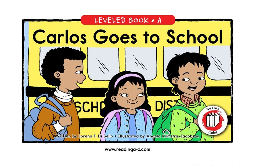 Book Preview For Carlos Goes to School Page 1