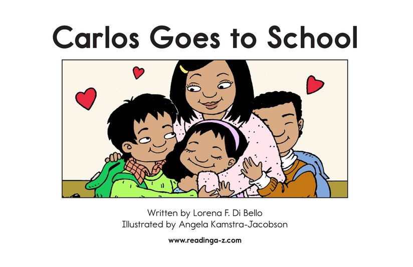 Book Preview For Carlos Goes to School Page 2