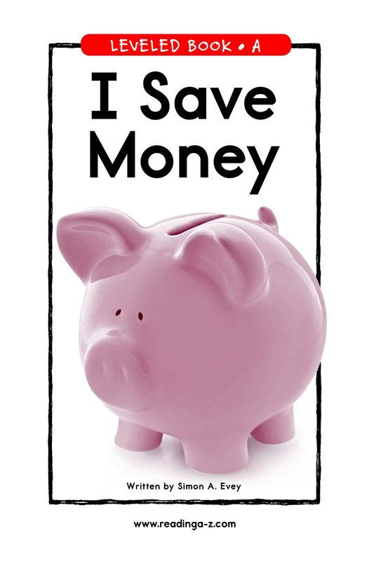 Book Preview For I Save Money Page 1