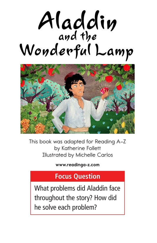 Book Preview For Aladdin and the Wonderful Lamp Page 1
