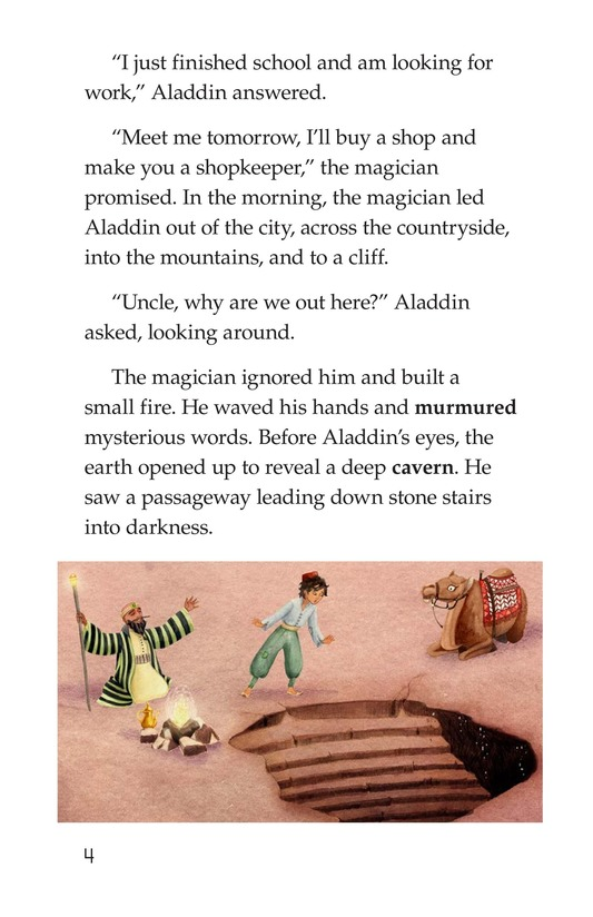 Book Preview For Aladdin and the Wonderful Lamp Page 4
