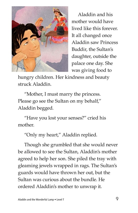Book Preview For Aladdin and the Wonderful Lamp Page 9