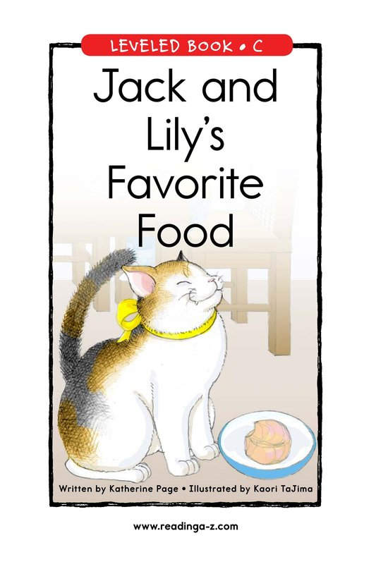 Book Preview For Jack and Lily's Favorite Food Page 1