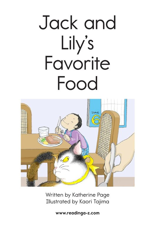 Book Preview For Jack and Lily's Favorite Food Page 2