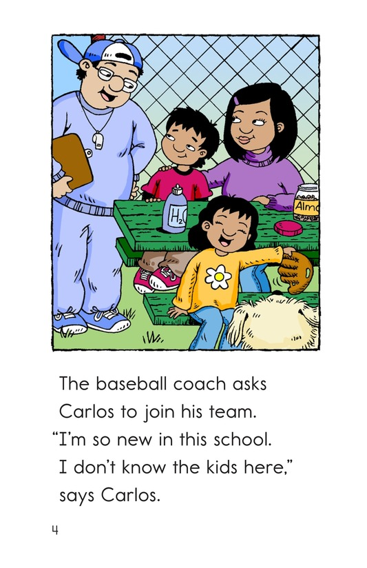 Book Preview For Carlos Joins the Team Page 4