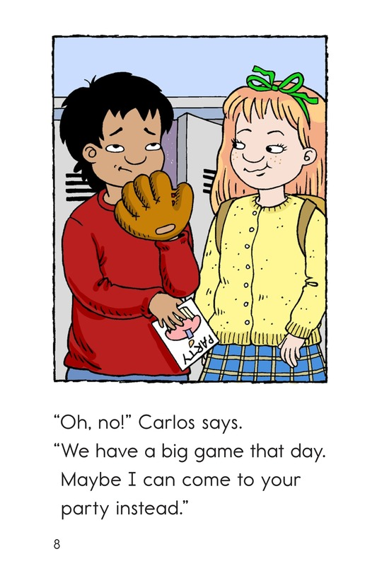 Book Preview For Carlos Joins the Team Page 8