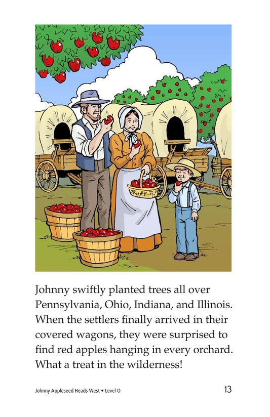 Book Preview For Johnny Appleseed Heads West Page 13
