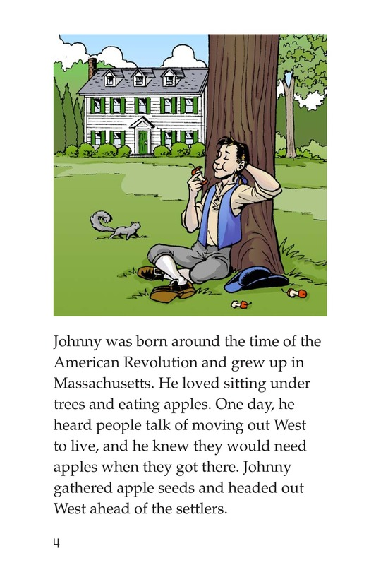 Book Preview For Johnny Appleseed Heads West Page 4