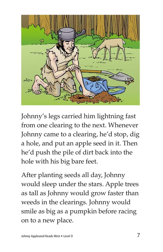 Book Preview For Johnny Appleseed Heads West Page 7