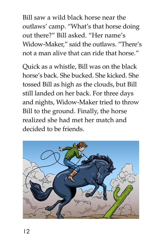 Book Preview For Pecos Bill Rides a Tornado Page 12