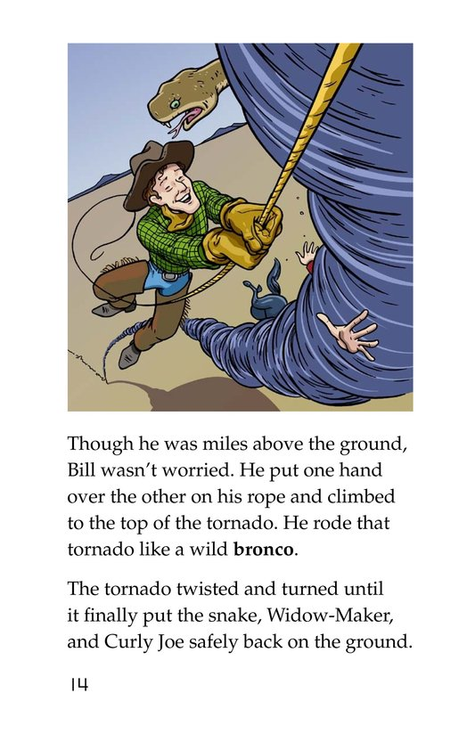 Book Preview For Pecos Bill Rides a Tornado Page 14