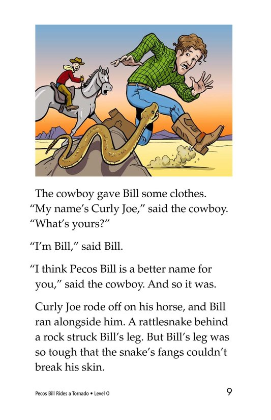 Book Preview For Pecos Bill Rides a Tornado Page 9