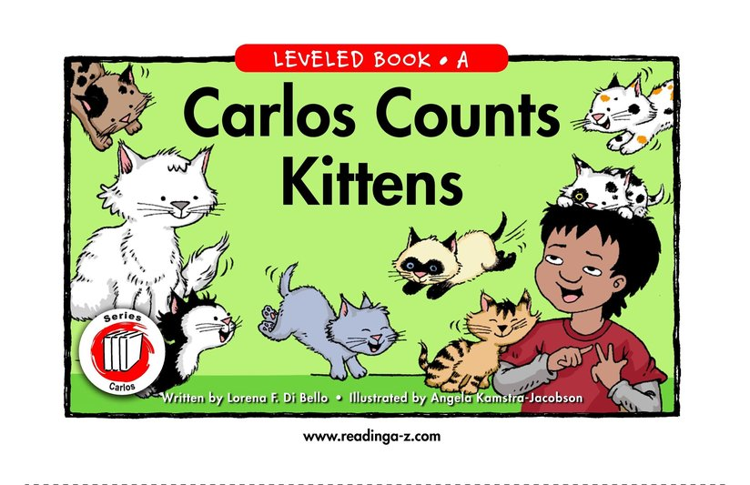 Book Preview For Carlos Counts Kittens Page 1