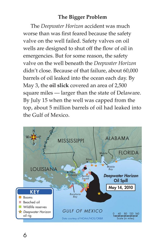 Book Preview For Deep Trouble: The Gulf Coast Oil Spill Page 6