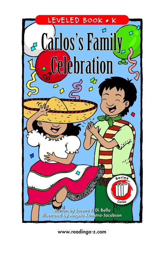 Book Preview For Carlos's Family Celebration Page 1