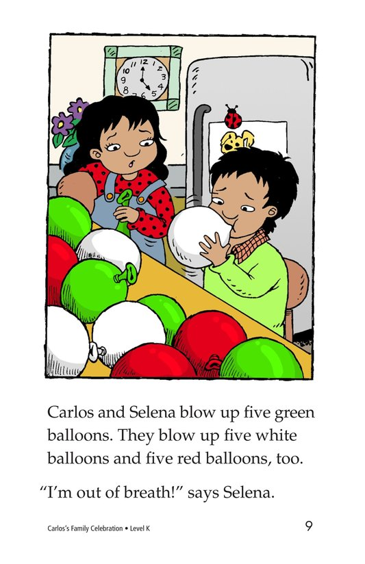 Book Preview For Carlos's Family Celebration Page 9