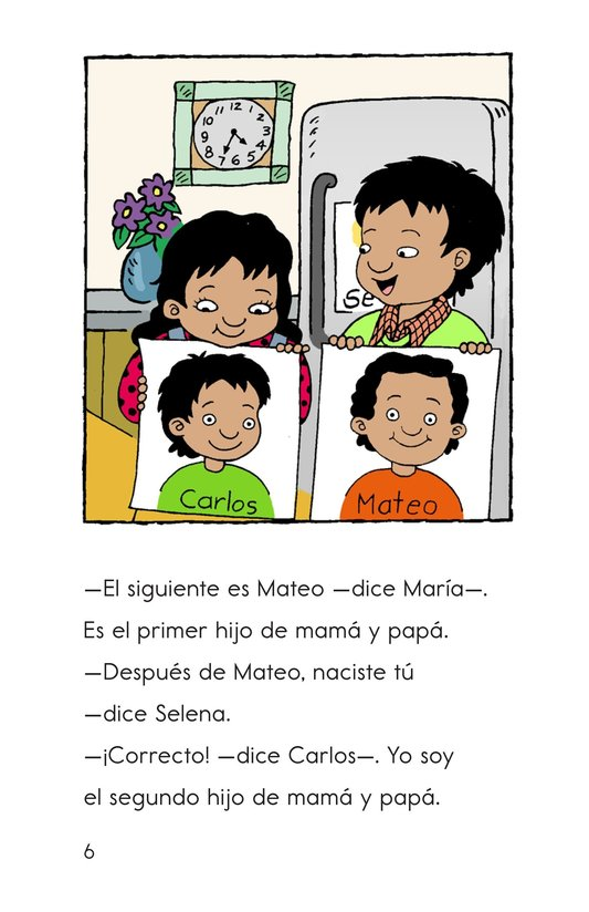 Book Preview For Carlos's Family Celebration Page 6