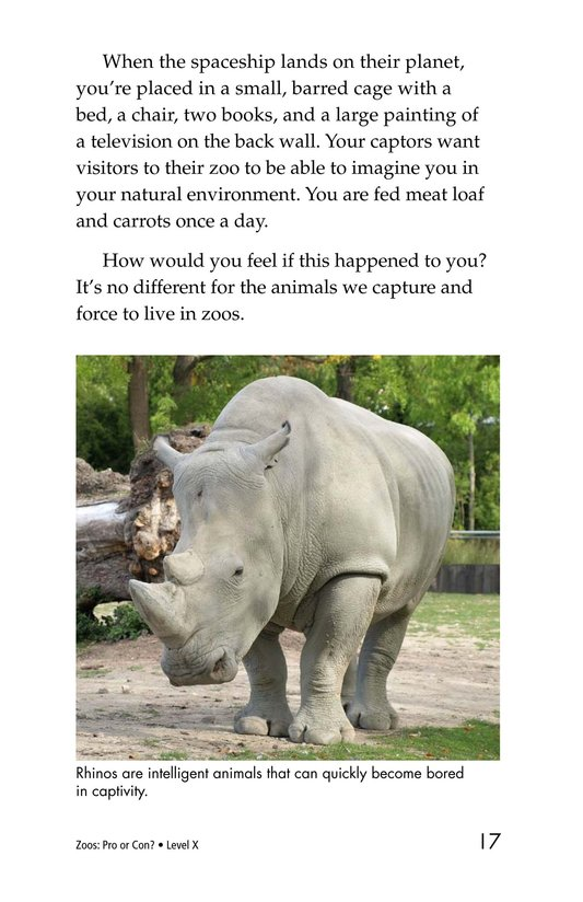 Book Preview For Zoos: Pro or Con? Page 17