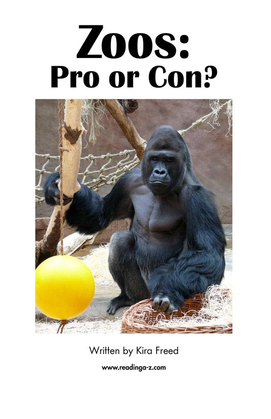 Book Preview For Zoos: Pro or Con? Page 2