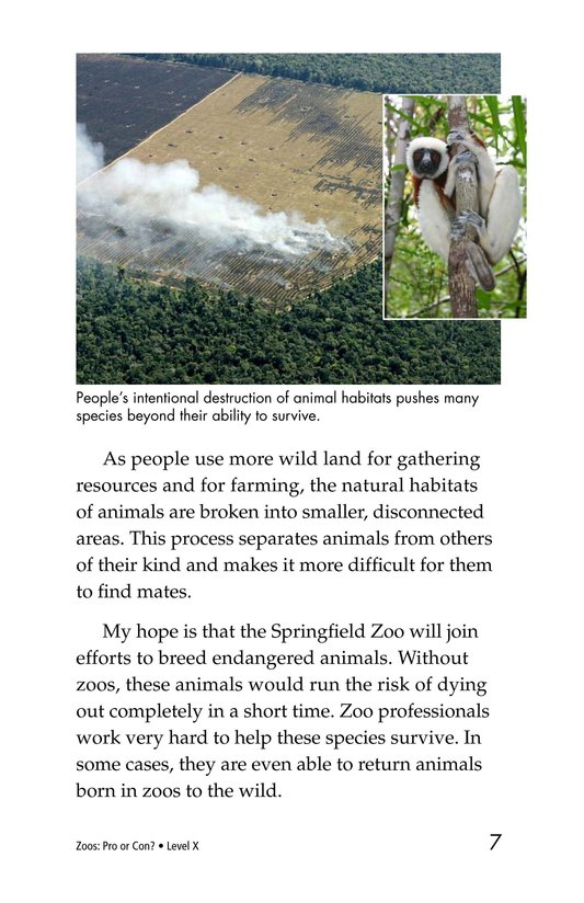 Book Preview For Zoos: Pro or Con? Page 7
