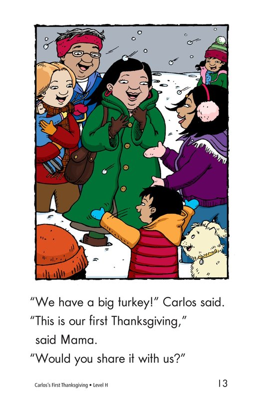 Book Preview For Carlos's First Thanksgiving Page 13
