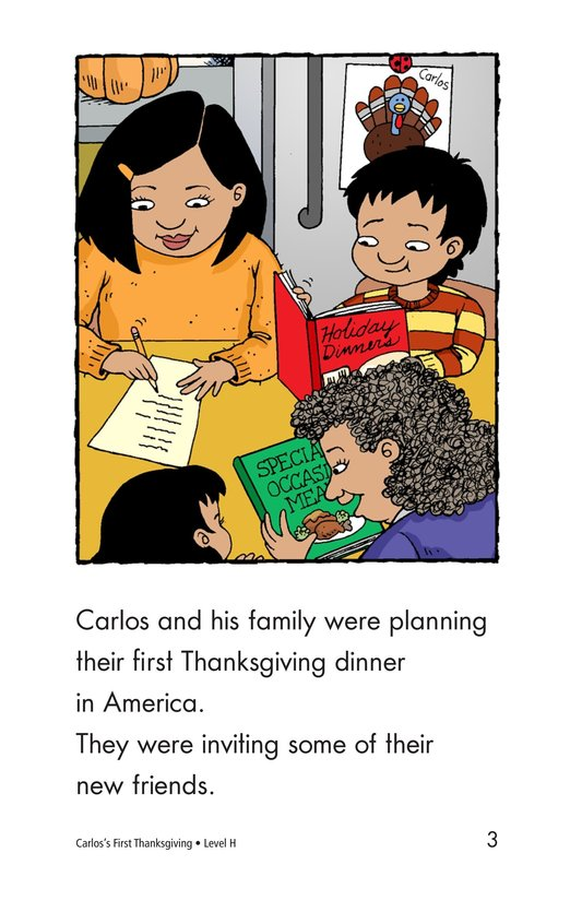 Book Preview For Carlos's First Thanksgiving Page 3