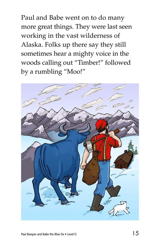 Book Preview For Paul Bunyan and Babe the Blue Ox Page 15