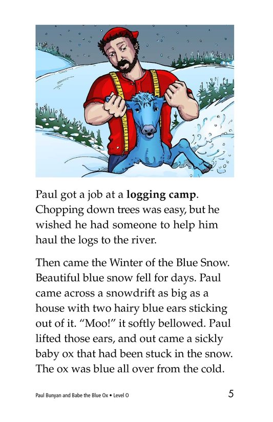 Book Preview For Paul Bunyan and Babe the Blue Ox Page 5