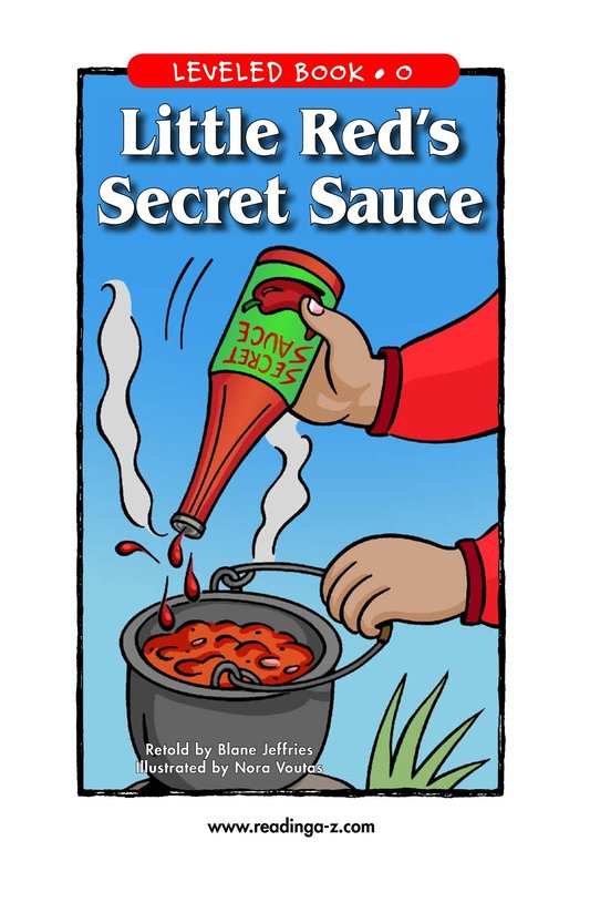 Book Preview For Little Red's Secret Sauce Page 1