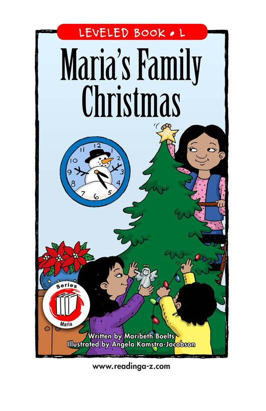 Book Preview For Maria's Family Christmas Page 1