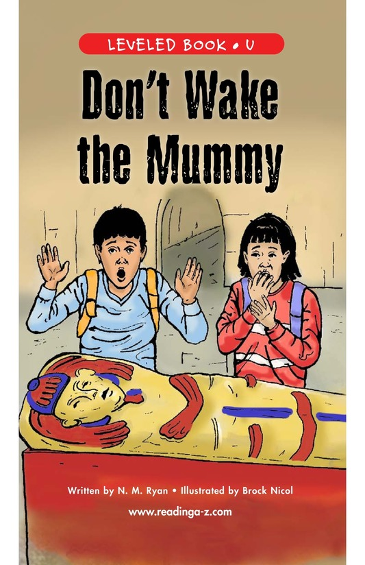 Book Preview For Don't Wake the Mummy Page 1