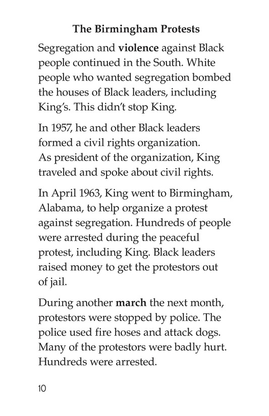 Book Preview For Martin Luther King, Jr. Page 10